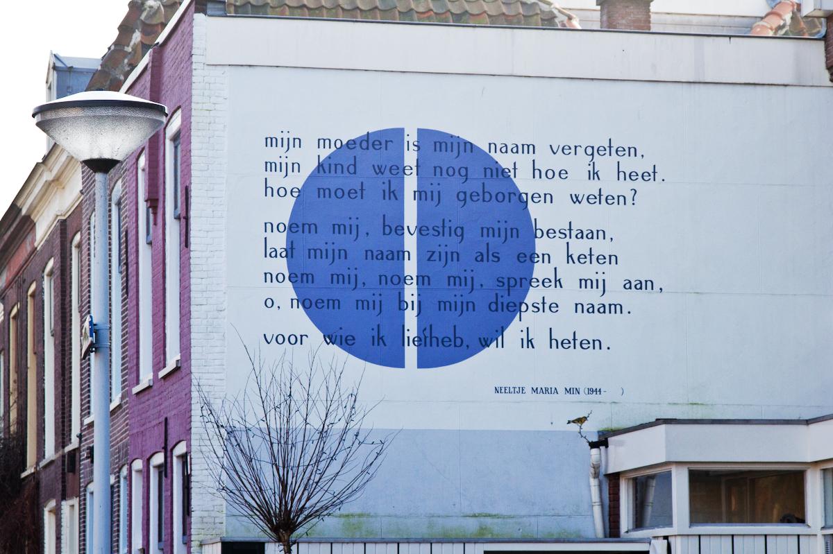 Mijn Moeder Is Mijn Naam Vergeten 1966 Muurgedichten Leiden